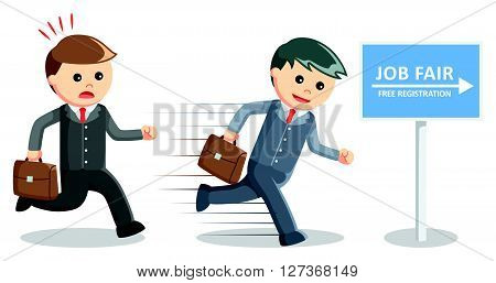 Business man job fair .eps10 editable vector illustration design