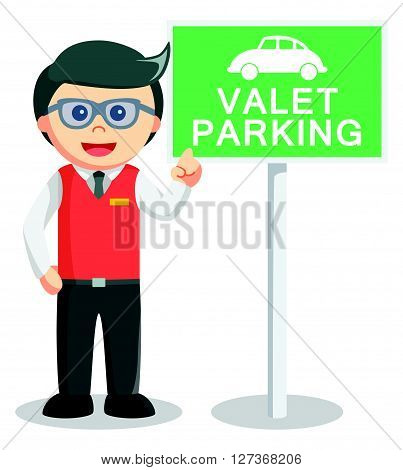 Valet parking illustration  .eps 10 vector illustration flat design