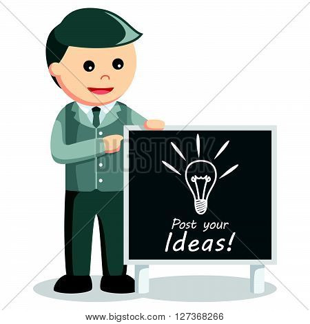 Business man post idea  .eps 10 vector illustration flat design
