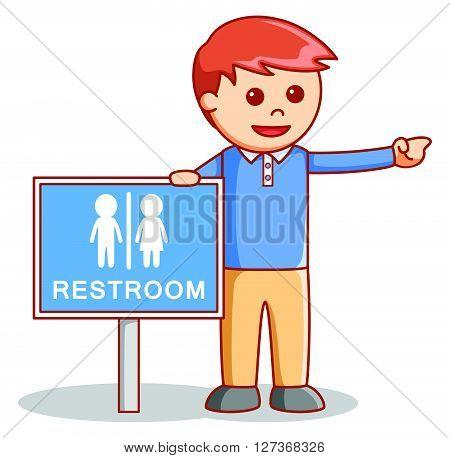 restroom illustration .eps10 editable vector illustration design