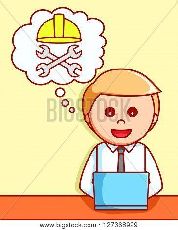 Online maintenance 404  illustration design  .eps 10 vector illustration flat design