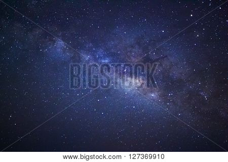 Milky Way Galaxy, Long Exposure Photograph, With Grain