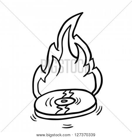 simple black and white burning record
