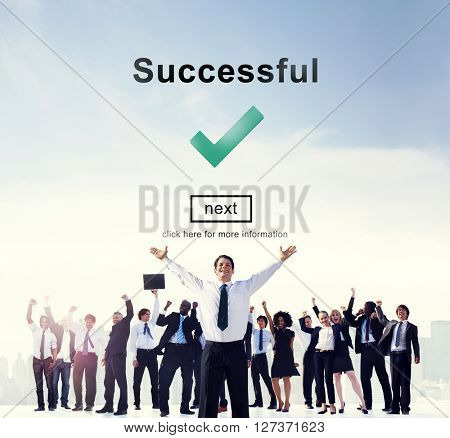 Success Successful Accomplishment Achievement Concept