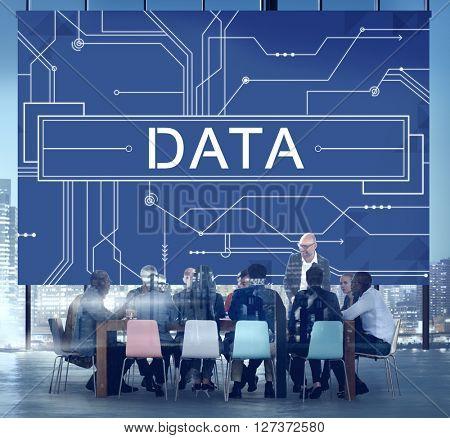 Data Circuit Board Technology Futuristic Information Concept