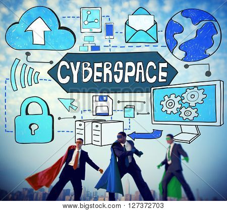 Cyberspace Technology Cyber Online Virtual Reality Concept