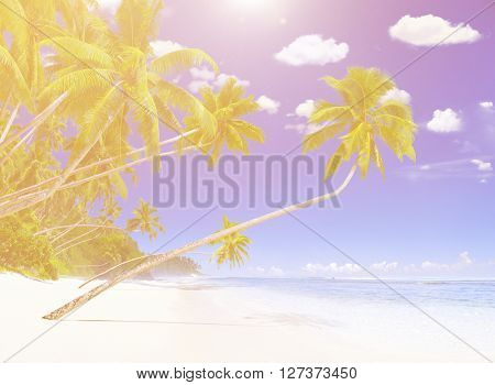 Wonderful island Nature Tranquil Calmness Concept