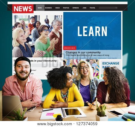 College Student Education Knowledge News Article Concept