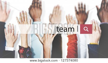 Team Teamwork Collaboration Connection Unity Concept