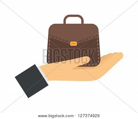 Business strategy and success professional team vector illustrations. Successful people hand with business bag and success business confidence look. Success business professional business teamwork.