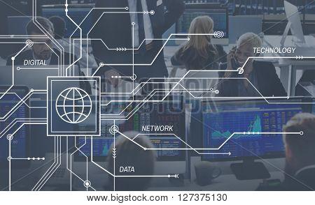 Network Matrix Internet Computer System Net Concept