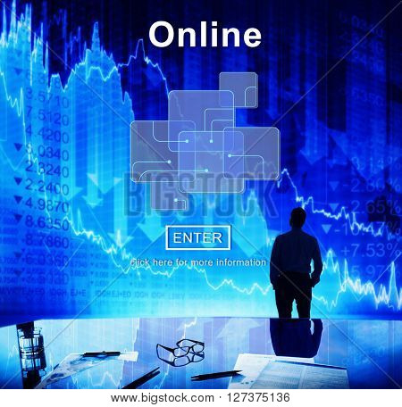 Online Internet Social Media Networking Connection Concept