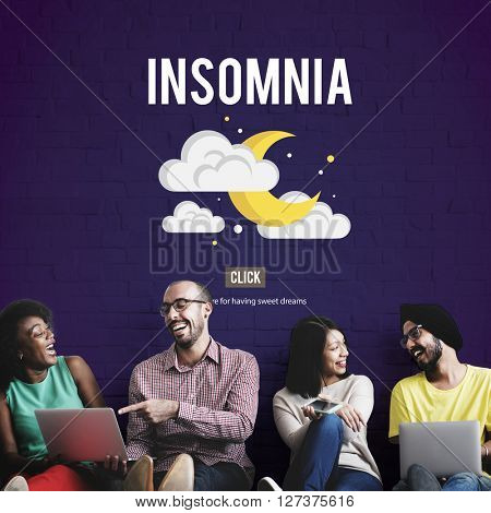 Insomnia Disorder Problem Illness Sleep Concept