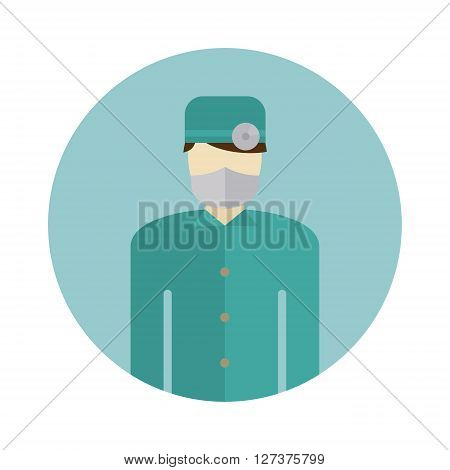 Medical doctor silhouette icon nurse or surgeon wearing scrubs with mask on face vector. Doctor silhouette icon and medical hospital doctor silhouette. Physician surgeon profession doctor silhouette.
