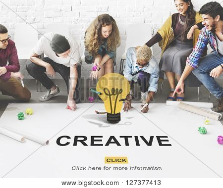 Creative Ideas Imagination inspiration Light Bulb Concept
