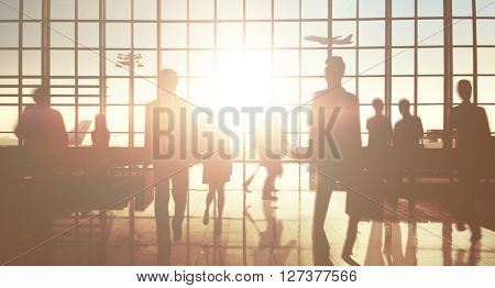 International Airport Terminal Travel Business Trip Concept