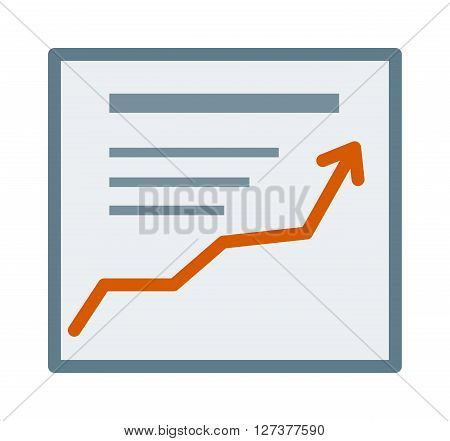 Vector icon growth report diagram chart, business financial success statistic diagram. Growth report business concept and financial growth report statistic. Growth report economy infographic element.