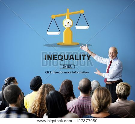 Inequality Difference Diversity Imbalance Racism Concept