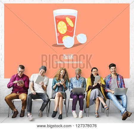 Drinking Webpage Chill Beverage Relaxing Concept