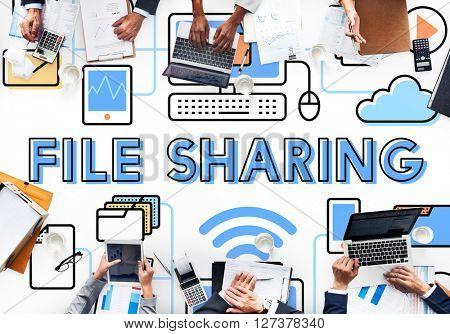 File Sharing Internet Technology Social Storage Concept