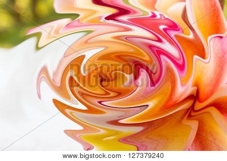 Colourful Curved Pattern Design Abstract Sweet Background