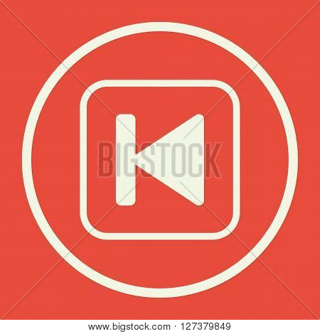 Music Back Icon In Vector Format. Premium Quality Music Back. Web Graphic Music Back Sign On Red Bac