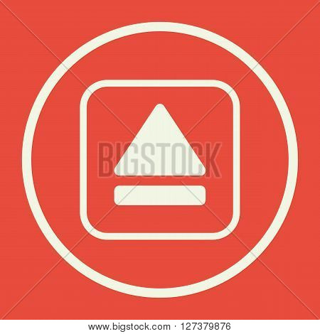 Music Eject Icon In Vector Format. Premium Quality Music Eject. Web Graphic Music Eject Sign On Red