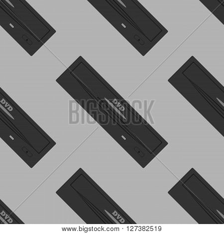 dvd drive pattern. Seamless pattern on a gray background. Vector illustration