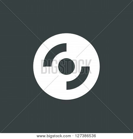 Cd-rom Icon In Vector Format. Premium Quality Cd-rom Symbol. Web Graphic Cd-rom Sign On Dark Backgro