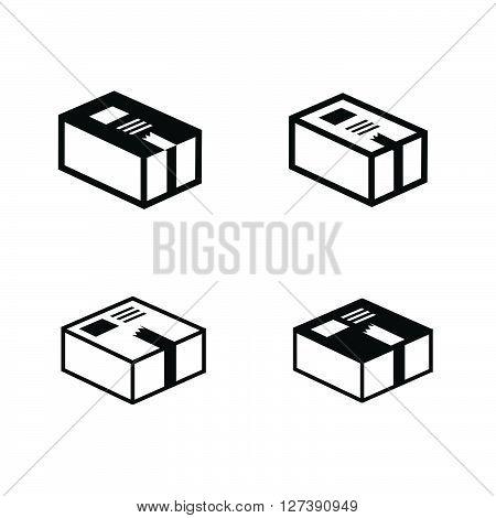parcel box icons set, support Vectors design eps10.