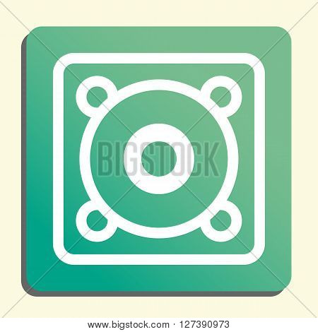 Speaker Icon In Vector Format. Premium Quality Speaker Symbol. Web Graphic Speaker Sign On Green Lig