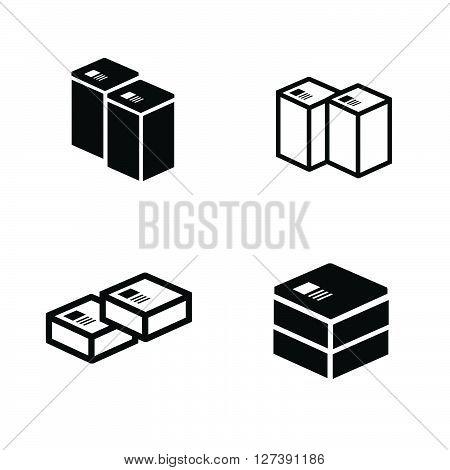 set of parcel box icons, support Vectors design eps10.