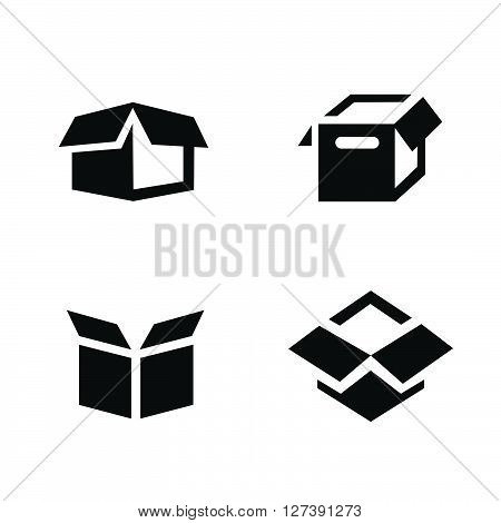 parcel box open box icons, support Vectors design eps10.