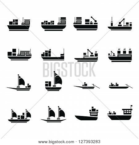 vector transport boat Icons, support Vectors design eps10.