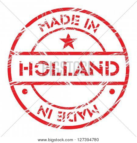 Made in Holland grunge rubber stamp