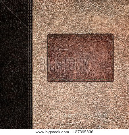 the two brown colors of leather vintage background