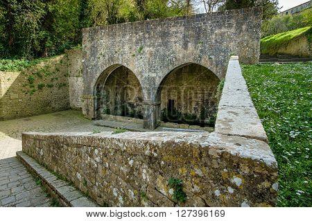 Italy, Tuscany, Volterra, Porta Di Docciola Door