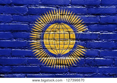 Flag Of The Commonwealth Of Nations, Painted On Brick Wall