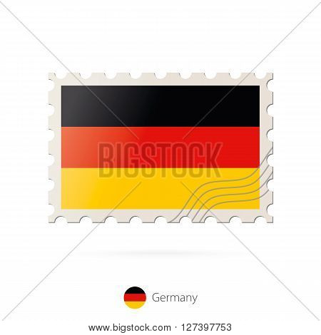 Postage Stamp With The Image Of Germany Flag.