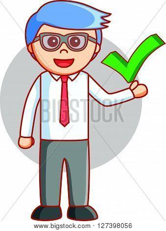 Business man true sign .EPS10 editable vector illustration design