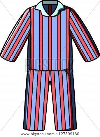 Pyjamas doodle vector .EPS10 editable vector illustration design