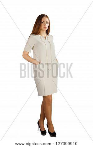 Full Body Brunette Woman