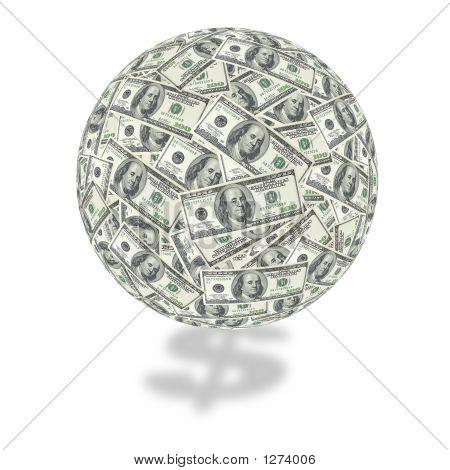 One Hundred Dollar Bill Globe