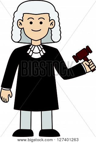 Lawyer doodle cartoon illustration .Eps 10 editable vector Illustration design