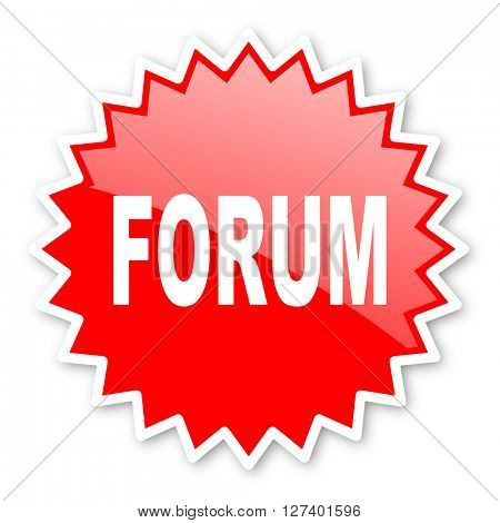 forum red tag, sticker, label, star, stamp, banner, advertising, badge, emblem, web icon