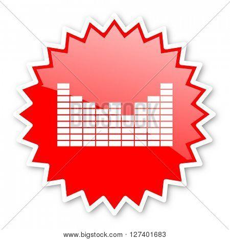 sound red tag, sticker, label, star, stamp, banner, advertising, badge, emblem, web icon