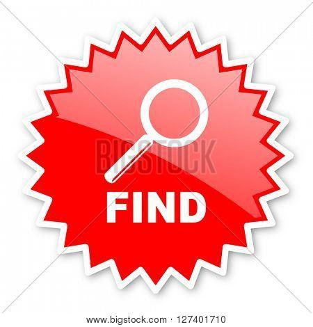 find red tag, sticker, label, star, stamp, banner, advertising, badge, emblem, web icon