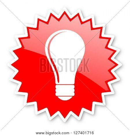 bulb red tag, sticker, label, star, stamp, banner, advertising, badge, emblem, web icon