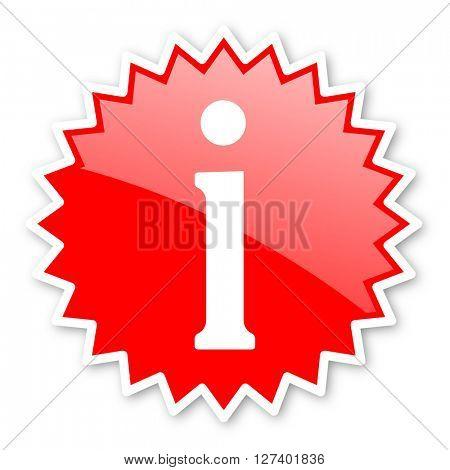 information red tag, sticker, label, star, stamp, banner, advertising, badge, emblem, web icon