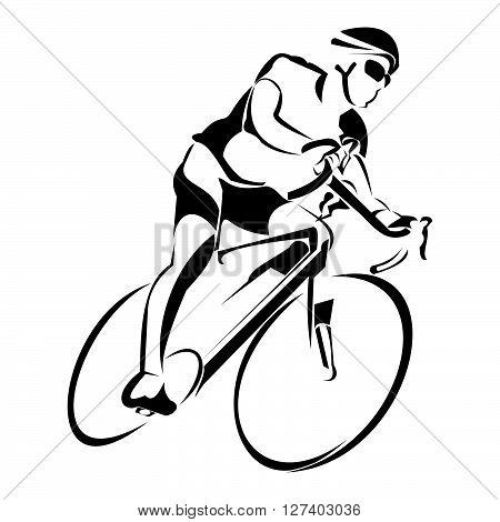 Bycicle ride .eps10 editable vector illustration design